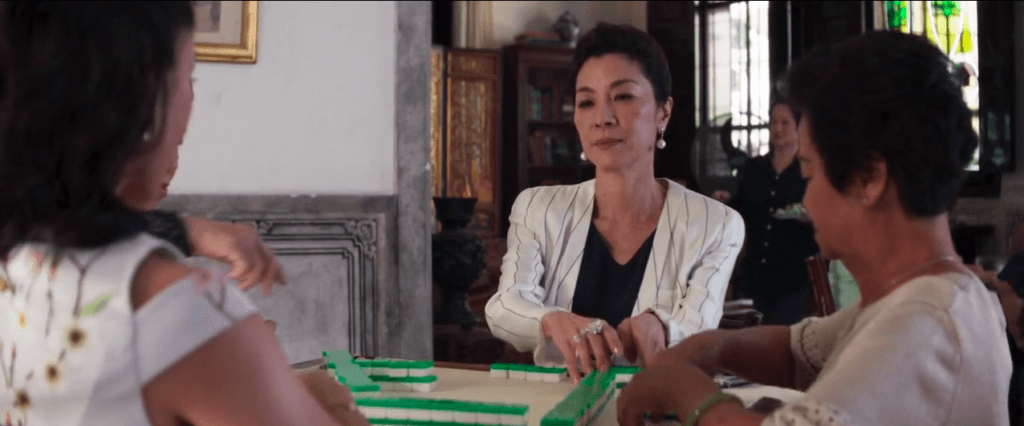 Chinese characters in the movie play mahjong