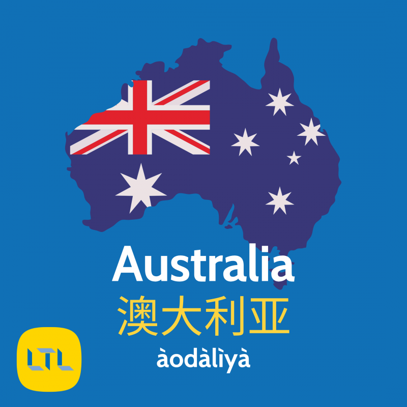 Places in Chinese - Australia