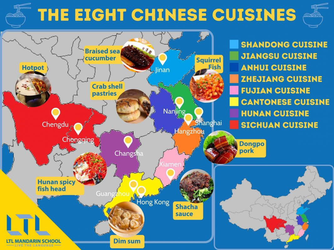 Chinese Cuisines - The 8 Famous Cuisines of China