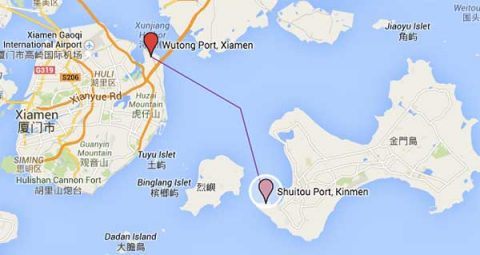 Xiamen to Kinmen Ferry Route