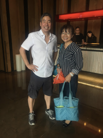 Andy Liu and his teacher in Taiwan