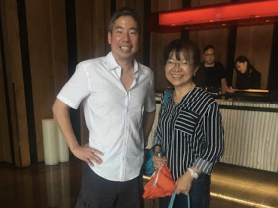 Andy Liu and his teacher in Taiwan