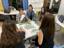 LTL Students in Taipei enjoying Mahjong night!