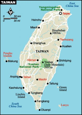 Moving to Taiwan - Map of Taiwan