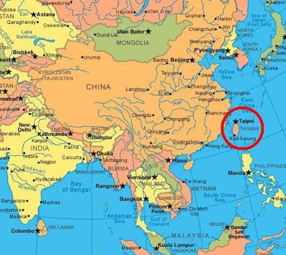 Where Is Taiwan On A World Map?
