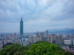 Taipei view of city