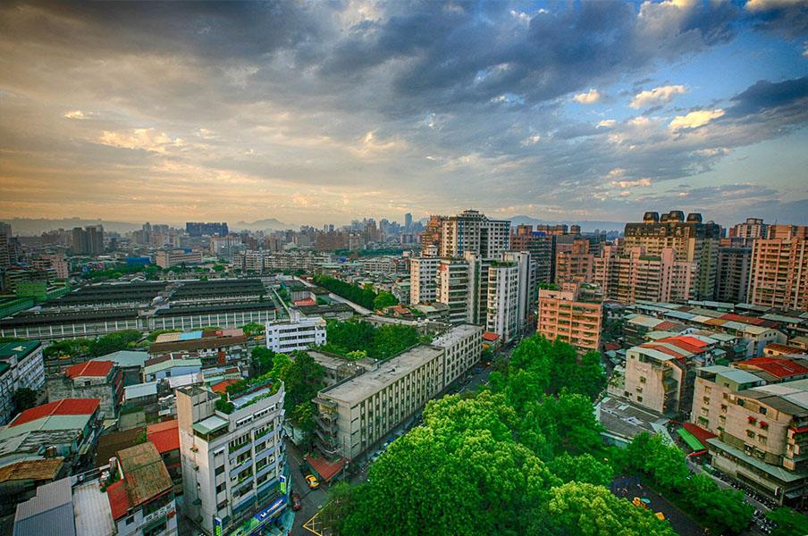 Taipei view of city